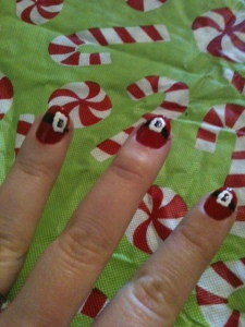 Mrs. Claus manicure.