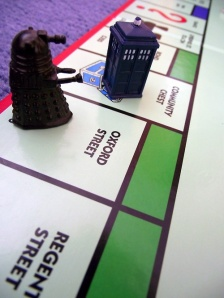 I hope the Chance card says: Donna Noble yells at you. Move back 5 spaces.