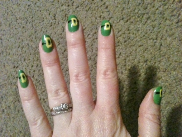 leprechaun hat nails