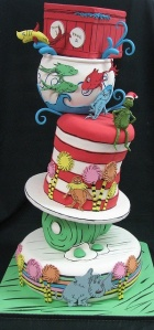 One piece, two pieces, three pieces, the whole cake!