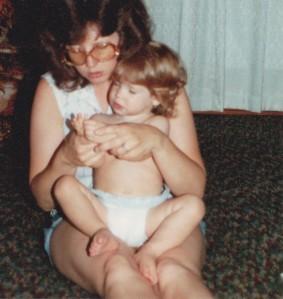 Mom and I, circa 1984.