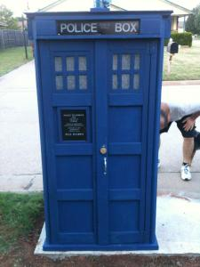 The Tardis mailbox. Gets letters from all over space and time.