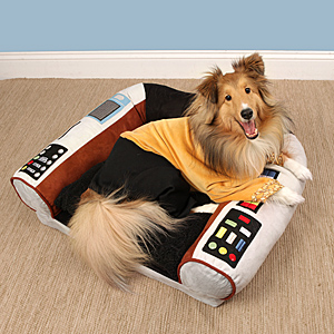 15ef_star_trek_captains_chair_dog_bed_in_use