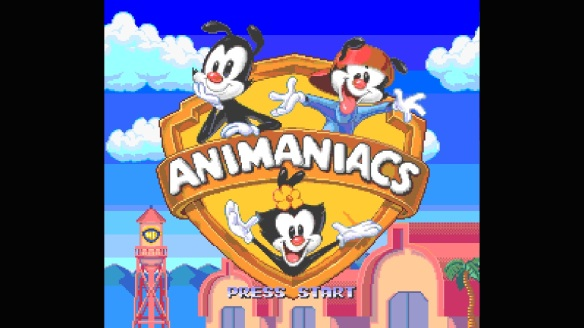 snes animaniacs opening panel
