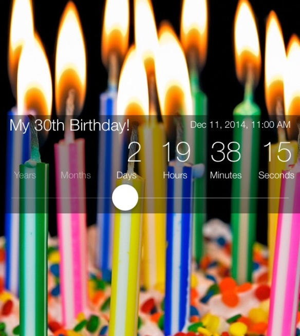 bday countdown