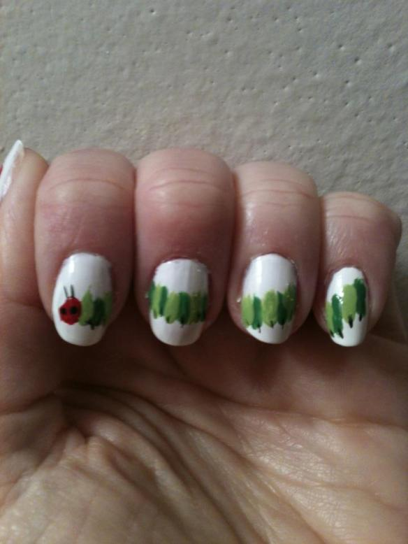 caterpillar nail art