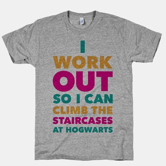 workout tee hogwarts
