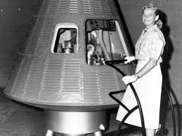 Jerrie Cobb, gassing up the shuttle.