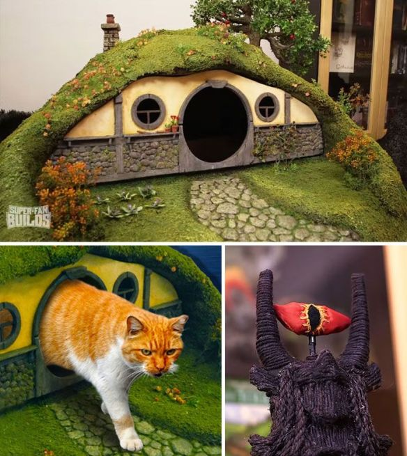 LOTR litter box and Sauron scratching post