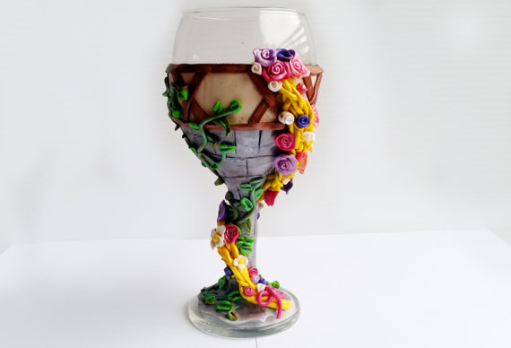 rapunzel wine glass