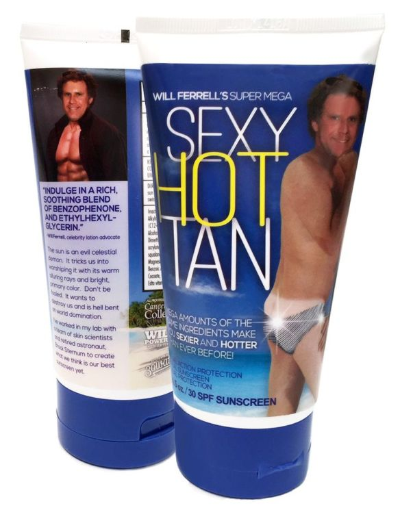 will ferrell sun tan lotion