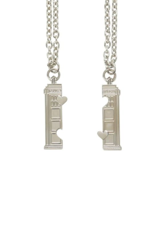 Fan Girl Friday Tardis best Friend Necklace