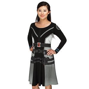 Fan Girl Friday iohq_black_widow_long_sleeve_dress