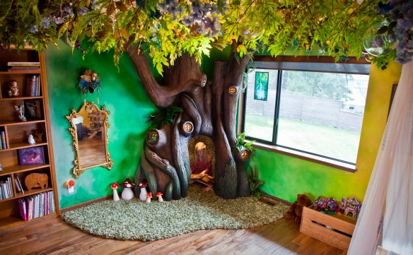 Fan Girl Friday Dad builds fairytale room