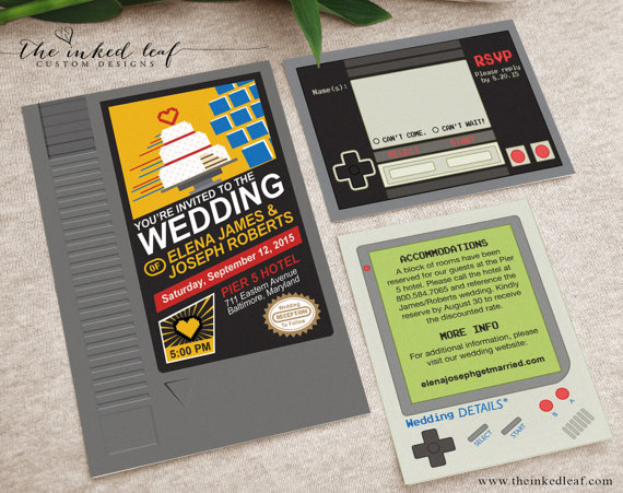 Nintendo Wedding Invites