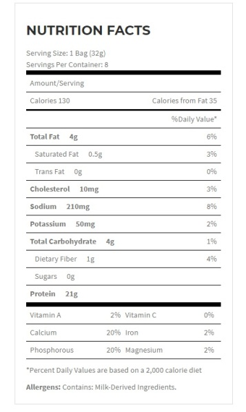 protein chips nutrition