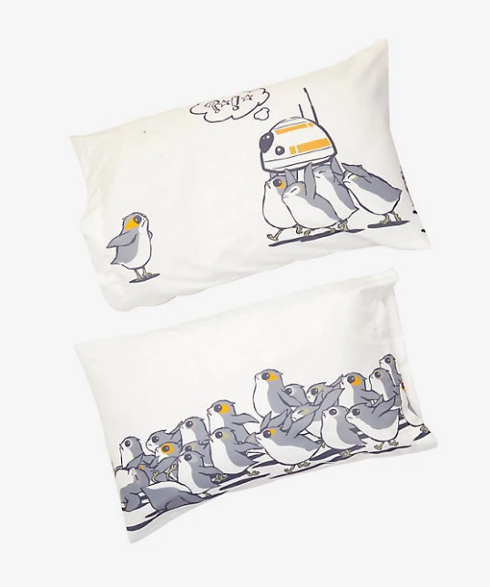 BB8 and Porg Pillowcases